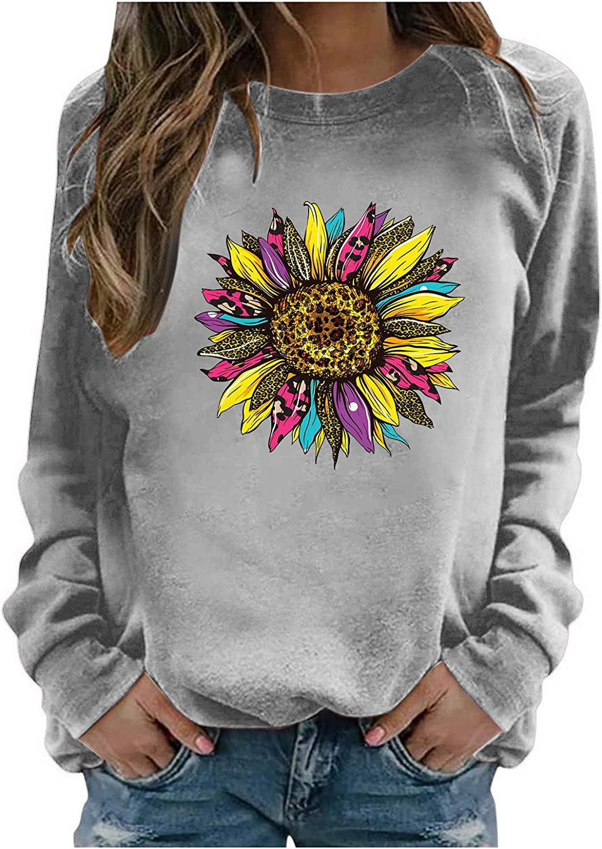 Nulairt Womens Max 49% OFF Crewneck Sweatshirts Pullover Long Sleeve Award Casual