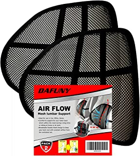 DAFUNY Office Chair Back Support, Car Lumbar Support 2 Pack Lower Back Support Pillow, Double Mesh Lumbar Support Pillow, Air Flow Breathable Back/Lumbar Support for Car & Office Chair