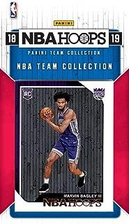 Sacramento Kings 2018 2019 Hoops Basketball Factory Sealed 8 Card Team Set with Zach Randolph, De'Aaron Fox, Rookie Card of Marvin Bagley III Plus