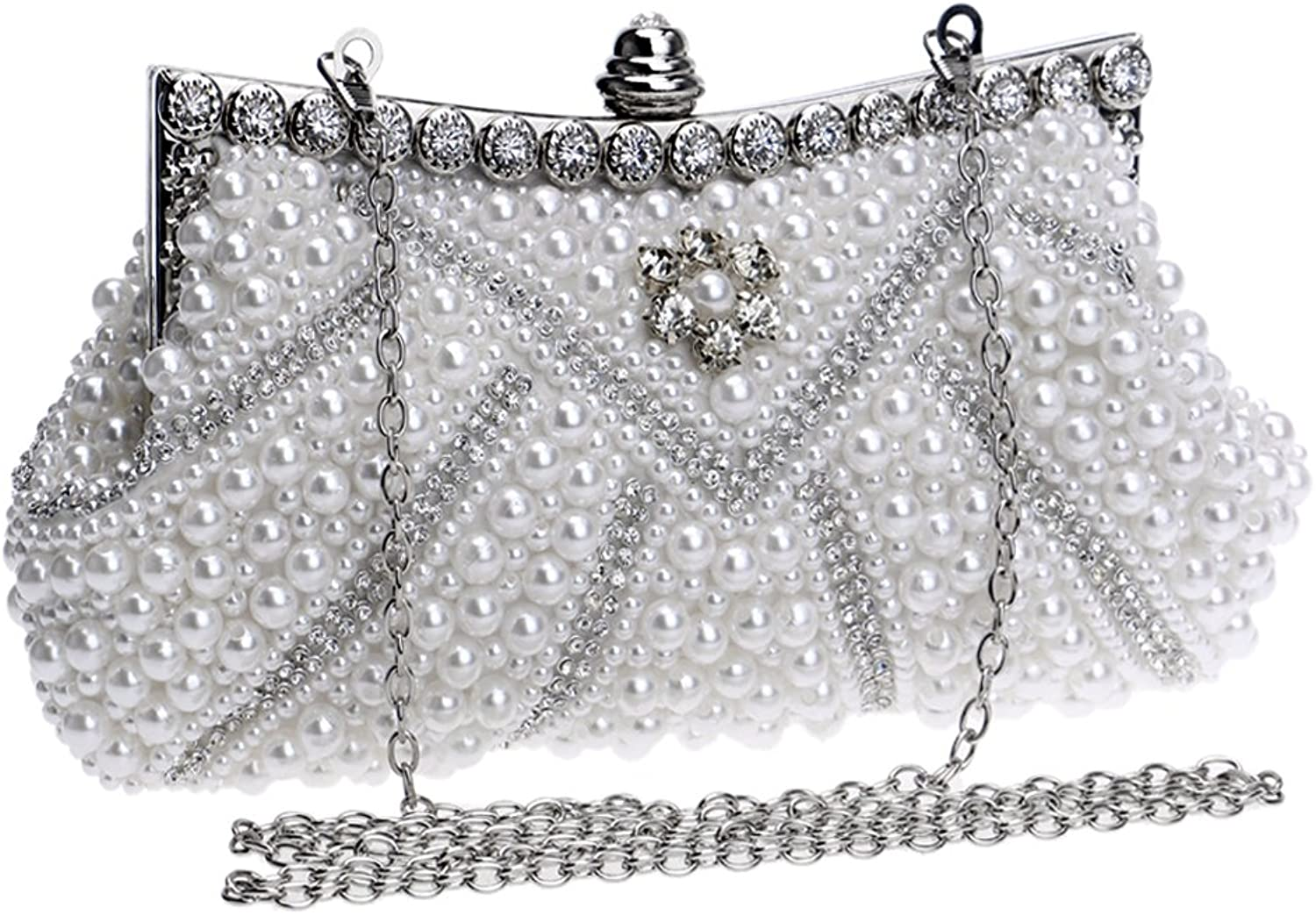 ASHIJIN Women Evening Bags Handmade Beaded Diamonds Soft Shell Design Day Clutches for Wedding Party Dinner Purse