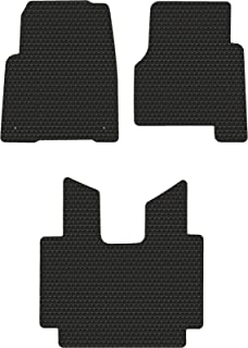 Lloyd Mats Compatible with Freightliner Cascadia Truck w/Manual Stick Shift - Black Rubbertite All-Weather Floor Mats - 3 Piece Full Cab Coverage - Fits 2008-2018
