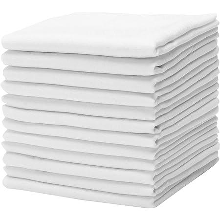 Amazon Com Pierre Cardin Pañuelo 16 X 16 Con Satin Cord 13 Pack 16 X 16 Algodón Blanco Clothing