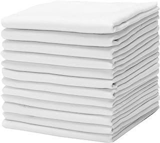 دستمال نخی Causa Forcia برای مردان پنبه سفید ترکی نرم و ضخیم ، 12 بسته