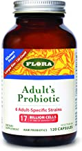 Flora Adult Blend Probiotic Capsules 120Count - 17 Billion CFU - Vegetarian, Gluten Free - for Adults Age 19-54 (UDO's Cho...