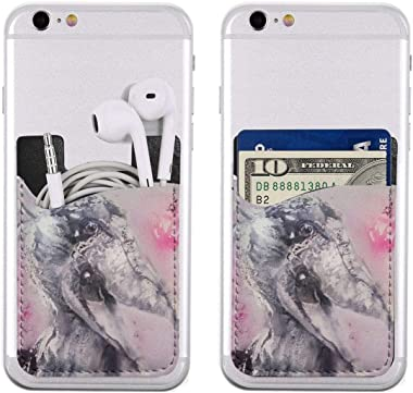 Shoebill Stork Art Pink Funny PU Leather Business Id Card Package RFID Credit Card Holder Clip Sleeve Wallet for Vehicle Car