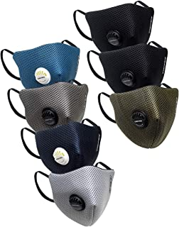 Gear OXYVENT G95 Adult Unisex Reusable & Washable 6 Layer NABL Certified Outdoor Protection Face Mask (Pack of 7) Multicolor