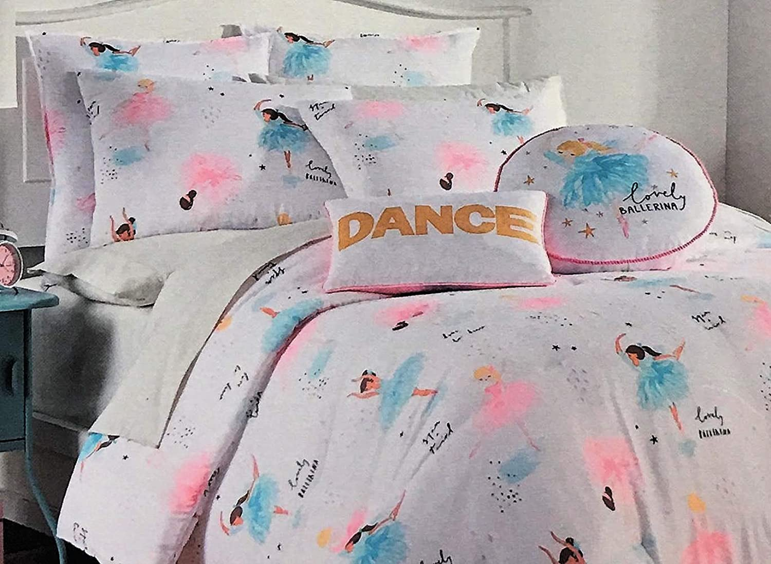 Bella Lux 4pc. Ballet Ballerina MultiRacial Comforter Set Twin for Girls   100% EasyCare Polyester