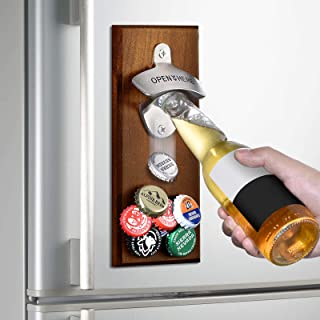 Gifts for Men Dad Fathers Day from Daughter Wife Son, Wall Mounted Magnetic Bottle Opener, Unique Beer Gift Ideas for Him ...