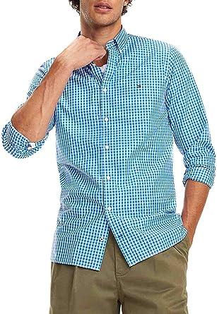 Camisa Tommy Hilfiger Slim Fit Cuadros Azul/Blanco Hombre XL ...