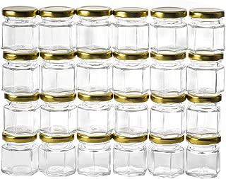 GoJars 1.5oz Hexagon Glass Jars 24 pack (24, 1.5oz)