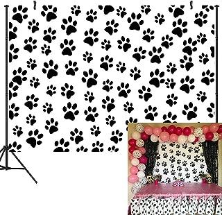 DULUDA 7X5ft Dog Puppy Paw Vinyl Photography Backdrop Birthday Party Decoration Customized Photo Background Studio Prop BD14