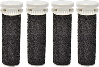 4 Pack Black Replacement Roller Refills Compatible With Scholl Express Pedi Foot Smoother-Extra Coarse