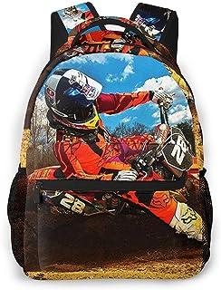 Mochila Tipo Casual Mochila Escolares Mochilas Estilo Impermeable para Viaje De Ordenador Portátil hasta 14 Pulgadas Motocross