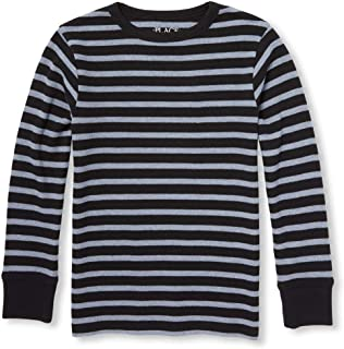 Baby Boys' Big Kid Long Sleeve Stripe Shirt