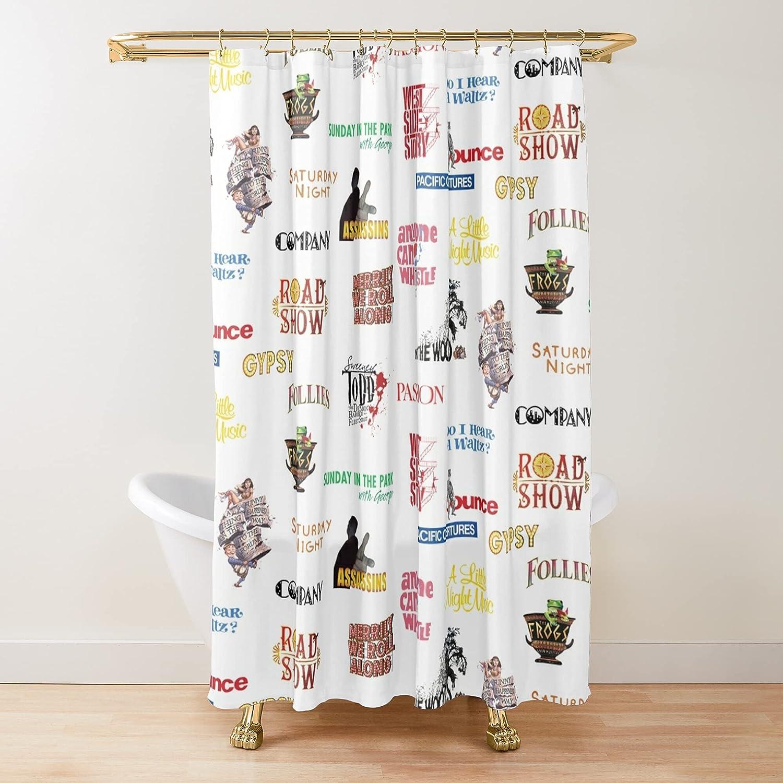 Sondheim Max 83% OFF Musicals Fabric Shower Curtains High quality new Customize Bath Printed