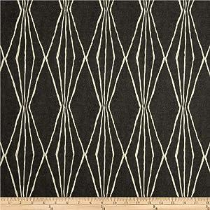 Robert Allen @ Home Handcut Shapes Fabric, Charcoal