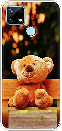 Oye Stuff Teddy Bear Soft Silicone Designer Printed Full Protection Back Case Cover for Realme Narzo 20