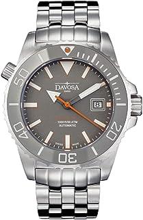 Davosa Swiss Automatic Diver's Watch - Luxury Analog Argonautic Waterproof Sport Wrist Watch for Men with Stylish Bracelet