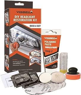Visbella Professional Headlight Restoration Kit DIY Headlamp Brightener Car Care Repair kit Head Lense Clean (Manual)