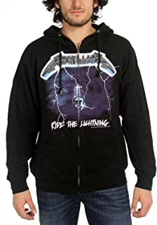 Metallica - Mens Ride The Lightning Zip Hoodie Small Black