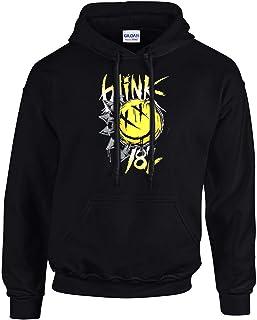 Blink 182 - Big Smile Punk Rules Rock Fun Music Hooded Felpe con cappuccionero -3086 - SW