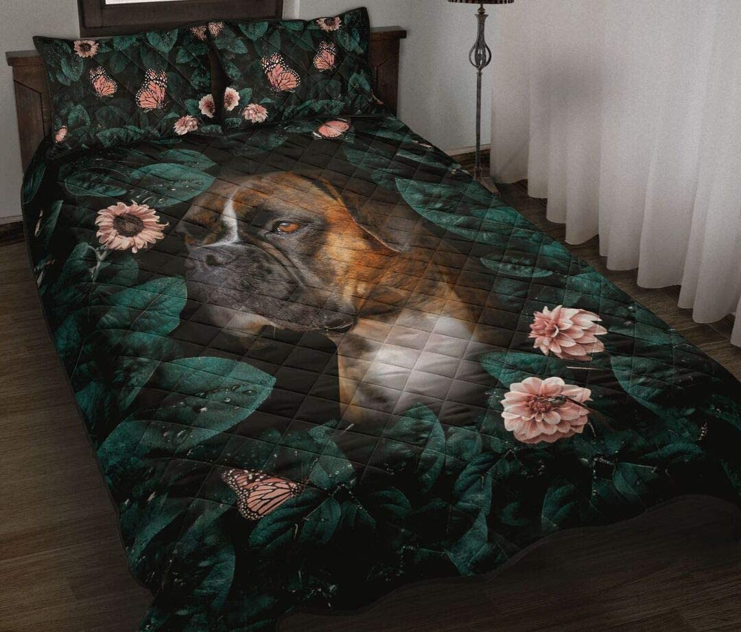 Personalized Super beauty product restock 5 ☆ very popular quality top Boxer Roses and Butterflies King Queen Art Quilt Tw
