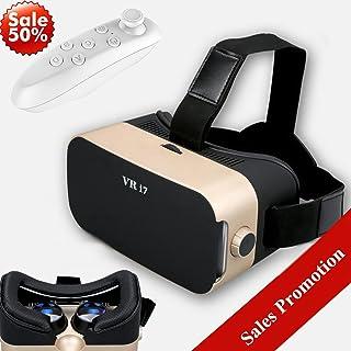 3Dバーチャルリアリティヘッドセット、Tsanglight VRメガネ リモコン付き [ギフト] VRゴーグル 360度視聴ボックス 3Dムービーゲーム iPhone X 8 7 6 Plus Galaxy S8 S7 S6 Edge用