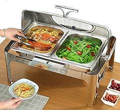 XBSXP Chafing Dishs 9L/13L Servant des Chauffe-Plats, Chauffe-Plats électriques pour Les buffets de fêtes, 220V 400W en Ac...