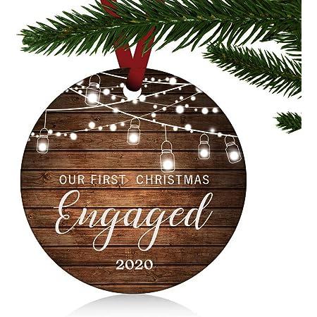 LENOX HOLIDAY CHRISTMAS ORNAMENT 2018 ENGAGEMENT RING NIB