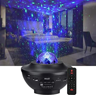 Star projector & galaxy projector, BSLED ocean wave night light projector with Auto-Off timer and remote control star light projector for Kids bedroom, starlight projector with LED Nebula Cloud