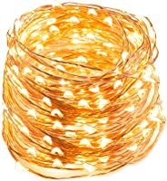 TaoTronics Lichterkette 200er LED 1 Stück warmweiß 20m dimmbare Kupferdraht wasserdicht Sternenlicht...