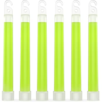 "Swiss Safe Premium 6"" Glow Sticks - Extra Bright, 12+ Hour Duration, Emergency Ready (Green 6-Pack)"