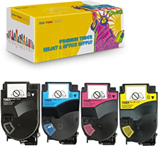 New York TonerTM New Compatible 4 Pack TN310K TN310Y TN310C TN310M High Yield Toner for Konica-Minolta : BizHub C350 | C351 | C450. --Black Yellow Cyan Magenta