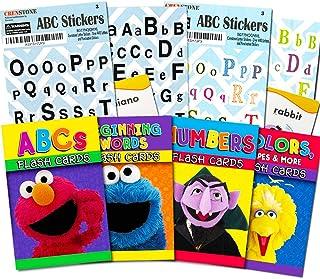 Sesame Street Flash Cards Super Set Toddler Kids -- Over 100 Flash Cards with Alphabet