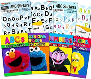 Sesame Street Flash Cards Set for Toddlers - Bundle Includes ABCs, Numbers, Colors, Shapes and More