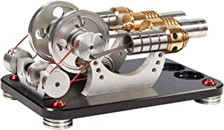 Sunnytech Hot Air Stirling Engine Motor Generator Education Toy Electricity M16-22-D