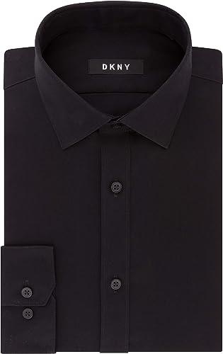 DKNY Robe Shirt Slim Fit Stretch Solid Chemise habillée Homme