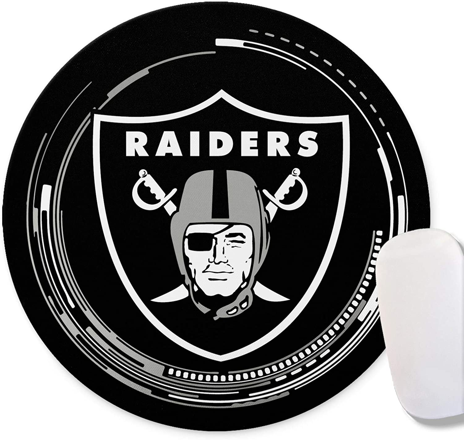 Rubber Base for Stable Grip CANDICE NFL Mouse Mat//Gaming Mouse Pad 8.7Inch Round Mouse pad Logo Creative Custom Non-Slip Mouse Mat| Improved Precision and Speed