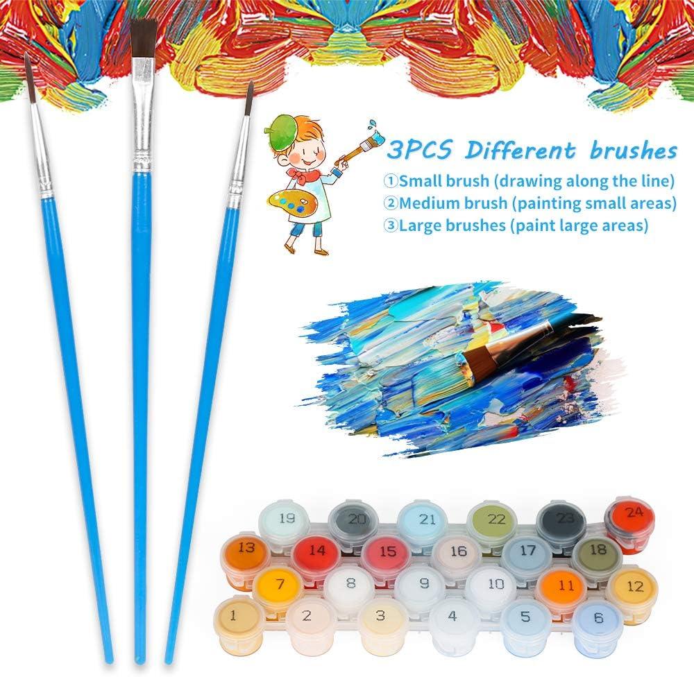 Wishstar Numero d/'Art Peinture Num/éro Arbre Kit 40 x 50 CM sans Cadre DIY Paint by Numbers Activites Manuelles pour Enfants Peinture par Numero pour Enfants//Adultes//Seniors