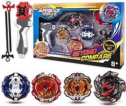 infinitoo Beyblade Burst Juego de 4 giroscopios de Combate 4D Fusion Modelo Lanzador de aceleración Gyro Juguete de Regalo para niños