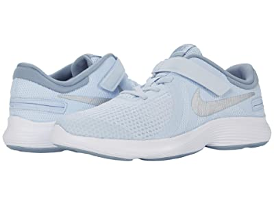Nike Kids FlyEase Revolution 4 (Big Kid) (Half Blue/Metallic Silver/Obsidian Mist) Kids Shoes