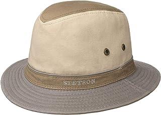 Cappello Tesa Larga Cotone Primavera//Estate Stetson Gander Trilby in Tessuto Uomo