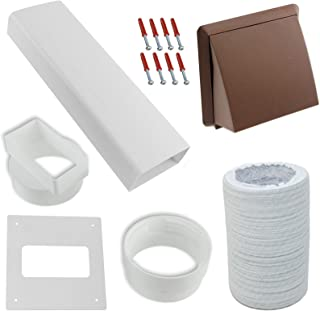 Spares2go Exterior Wall Venting Kit & Extension Hose For Bush Tumble Dryers (Brown, 4