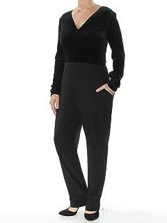 0601ba6ccda9 VINCE CAMUTO  188 Womens New 1043 Black Long Sleeve Straight Leg Jumpsuit  12 B+B
