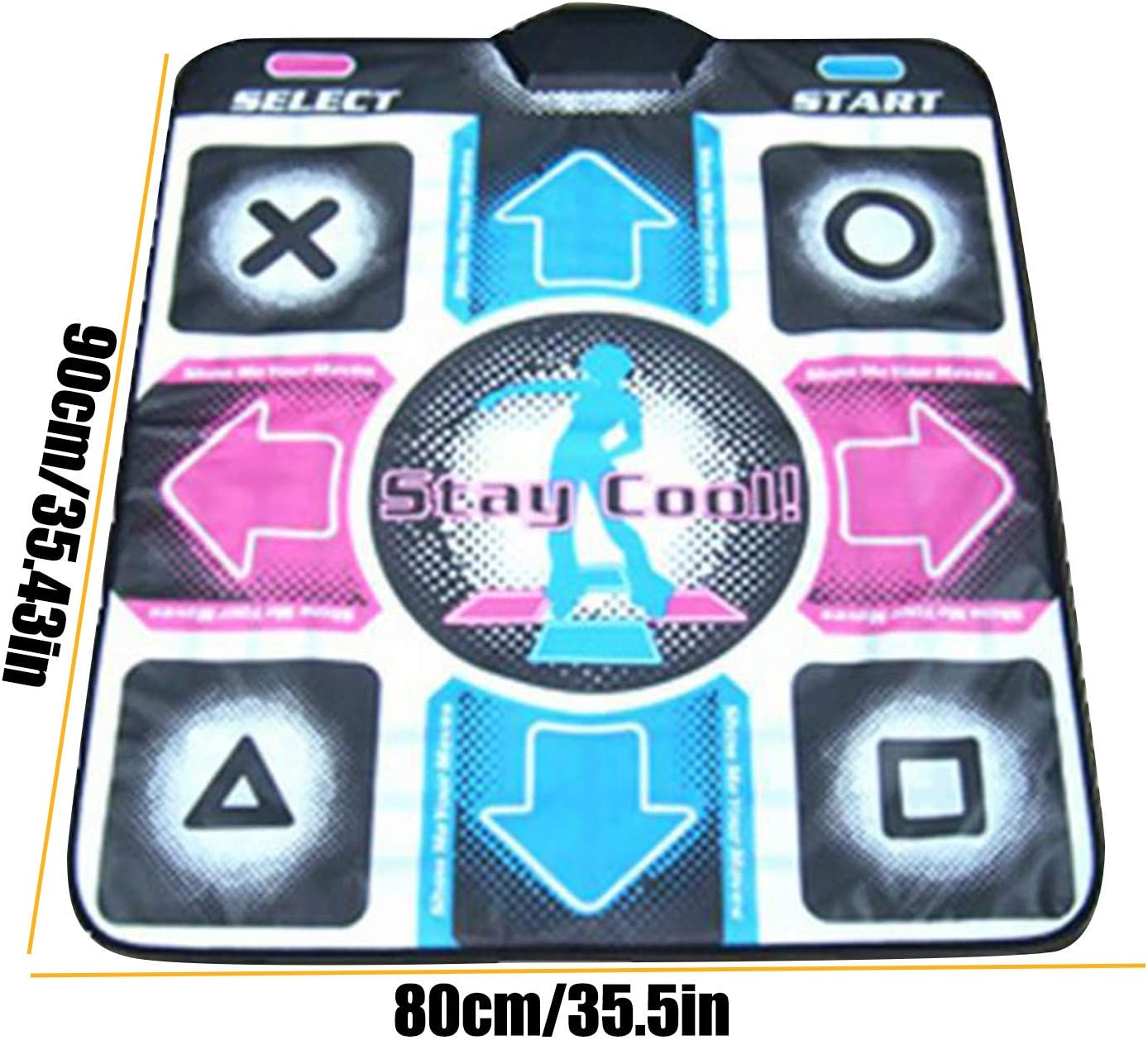 Best Gift for Kids-English Version Dance Mat for Kids Adults Music Video Feeling Game Piano Blanket Fitness Body Building for Pc Tv Wireless Dancers Step Pads Sense Game