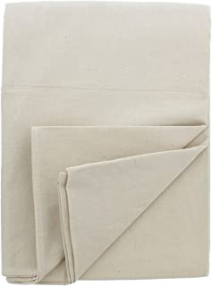 ABN Canvas Drop Cloths - 4 by 5 Ft Painters Drop Cloth Runner Floor Cover for Painting or Drop Cloth Curtains