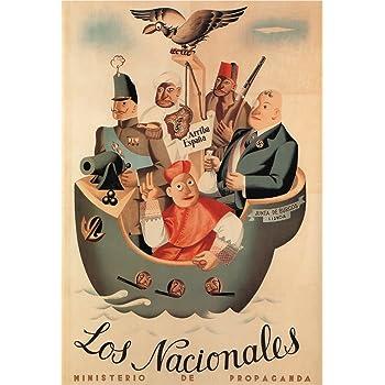 La Guerra Civil Española 1936-39 Propaganda NacionalS, publicado por el Ministerio de Propaganda tarjeta 250gsm ART polarmk A3 Póster: Amazon.es: Hogar