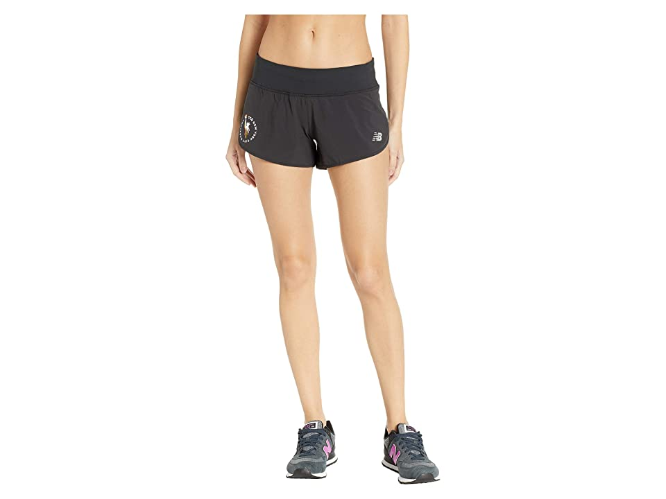 New Balance NYCM 3 Impact Shorts (Black) Women