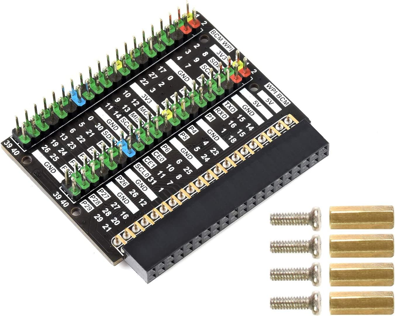 2X 40 PIN GPIO Header Max 86% OFF Baltimore Mall Board Adapter Color-Coded Expansion