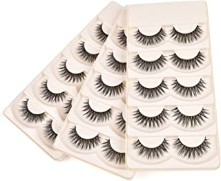 Wleec Beauty Silk Eyelashes Handmade False Eyelash Pack Crisscross Lashes #S/F30 (15 Pairs/3 Pack)